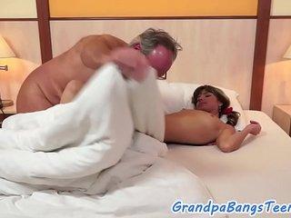 Smalltit eurobabe screwed by grandpa