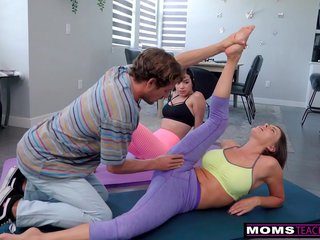 """""""Are you Serious Mom?"""" - Yoga Step Mom Fucks My BF And I Join In"""
