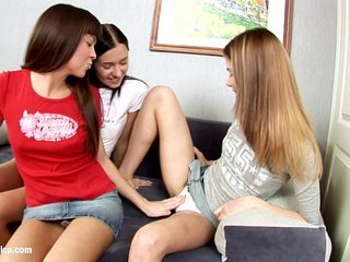 Cuties Climaxing by Sapphic Erotica - threesome lesbian fingering action