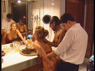 Swedish redhead and Indian beauty in Vintage 90s porn