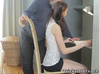 Tricky Old Teacher - Alina loves to get good grades