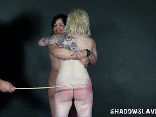 Spanking two amateur slavegirls and hardcore corporal