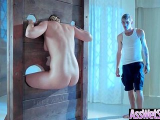 (Kate England) Superb Oiled Girl With Round Big Ass Get Analy Nailed clip-16
