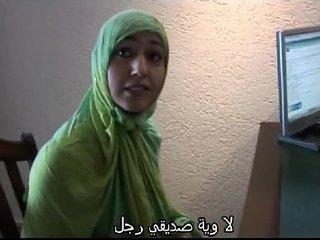 Moroccan slut Jamila tried lesbian sex with dutch girl(Arabic subtitle)