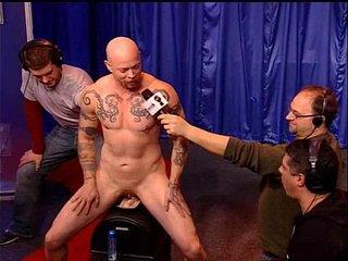 Buck Angel riding Sybian Orgasme Machine, Howard Stern